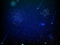 Illustration with stars and galaxy. EPS 10 Stock Illustration