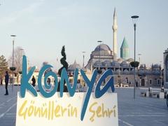 Konya Mevlana Museum Square Stock Footage