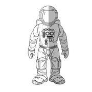 Isolated astronaut cartoon design Stock Illustration