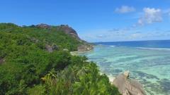 Beaches of the Seychelles  Anse Kerlan & Petite Stock Footage