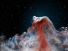 Horsehead Nebula in 3D Stock Footage