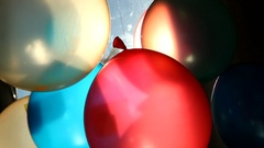 Colored balloons with word Smile, happiness concept Stock Footage