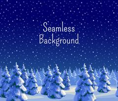 Fir forest seamless background Stock Illustration