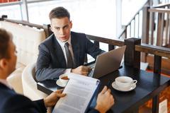 Business negotiating Stock Photos
