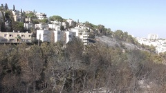 Aftermath of the fire in Haifa, Israel Stock Footage