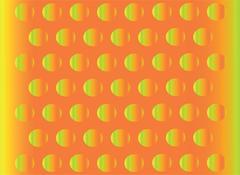 Abstract hemisphere bulge orange background Stock Illustration