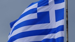 4K National Flag of Greece Greek national Pride identity Stock Footage