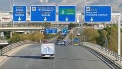 4K Timelapse Greece Athens Autobahn Motorway Expressway Commuters rush hour Stock Footage