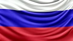 Realistic beautiful Russia flag waving Slow 4k resolution Stock Footage