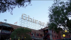 View of Ghirardelli sign in San Francisco 4 Stock Footage