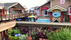 San Francisco fisherman's wharf tourist spot 2 Stock Footage
