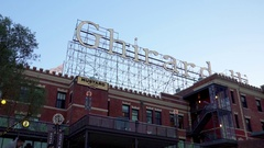 View of Ghirardelli sign in San Francisco 3 Stock Footage