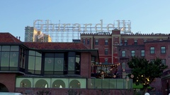 View of Ghirardelli sign in San Francisco 2 Stock Footage