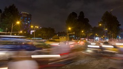 Timelapse night traffic in Ho Chi Minh City Stock Footage