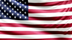 Realistic beautiful USA flag waving Slow 4k resolution Stock Footage