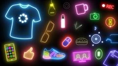 Glowing figures (teen) Stock Footage
