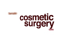 Cosmetic surgery animated word cloud. Arkistovideo