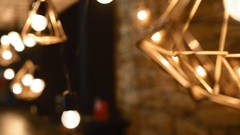 Decoration of the loft bar Stock Footage