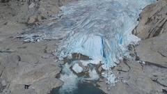 Nigardsbreen Glacier, Norway (Drone footage) Stock Footage