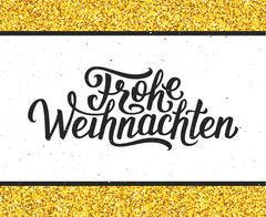 Frohe Weihnachten lettering. Merry Christmas card Piirros