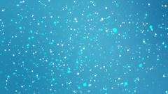 Blue background with colorful glitter lights Stock Footage