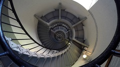 Ponce de Leon Inlet Lighthouse Spiral Staircase Real Time Stock Footage
