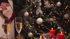 New Year festive table Arkistovideo