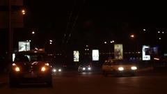 Alarm Night Car Street Light Stock Footage