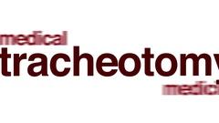Tracheotomy animated word cloud. Stock Footage