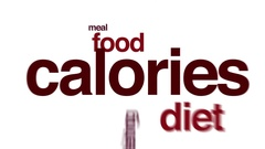Calories animated word cloud. Stock Footage