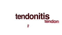 Tendonitis animated word cloud. Stock Footage