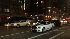 NYC Mustang Street Time Lapse Stock Footage