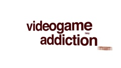 Videogame addiction animated word cloud. Stock Footage