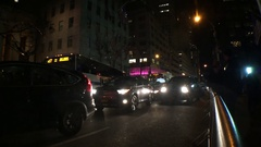 NYC Steet Night Cars Stock Footage