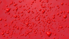 Valentines day background flying hearts Stock Footage