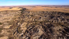Dry landscape aerial Stock Footage