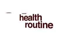 Health routine animated word cloud. Stock Footage