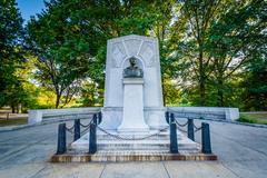 John Boyle O'Reilly Memorial, at Back Bay Fens, in Boston, Massachusetts. Stock Photos