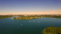 Yachting Glenmore reservoir Stock Footage