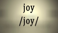 Definition: Joy Stock Footage