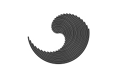 Rotating Concentric Arcs  -   Abstract  looping Animationn Stock Footage