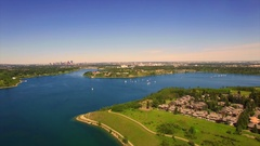 Aerial beautiful landscape lake Stock Footage