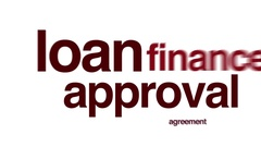 Loan approval animated word cloud. Stock Footage