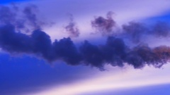 Industrial landscape, with Smoking chimneys Stock Footage