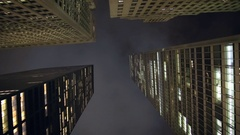 Looking Up at New York City Skyscrapers Stock Video Stock Footage