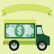 Concept of armored car Stock Illustration