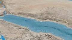 Revolution around Hejaz mountain range - glowed. Satellite imagery Stock Footage
