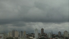 Time Lapse of the skyline in San Paolo, Brazil on a Cloudy Day - Another Angle Stock Footage
