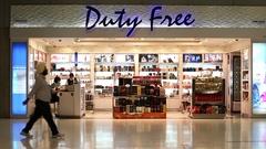 People inside duty free store in the Suvarnabhumi Airport, Bangkok, Thailand Stock Footage