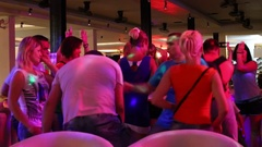 Walking Street is red-light district with restaurants, go-go bars and brothels Stock Footage